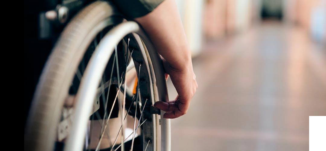 Handicap Teaser - Rollstuhlrad von nahem