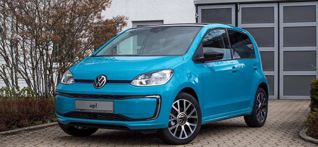 VW Up in blau - weak af