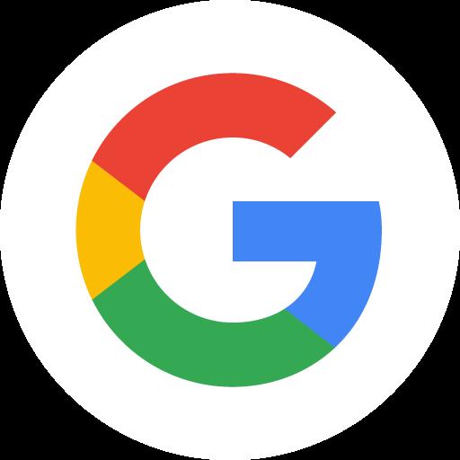 Google G Logo im weissen Kreis